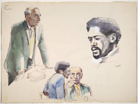 Black Panther Courtroom Sketches
