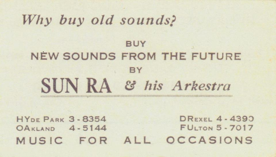 Sun Ra's Business Card
